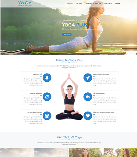 Website - Thể dục thẩm mỹ - Yoga