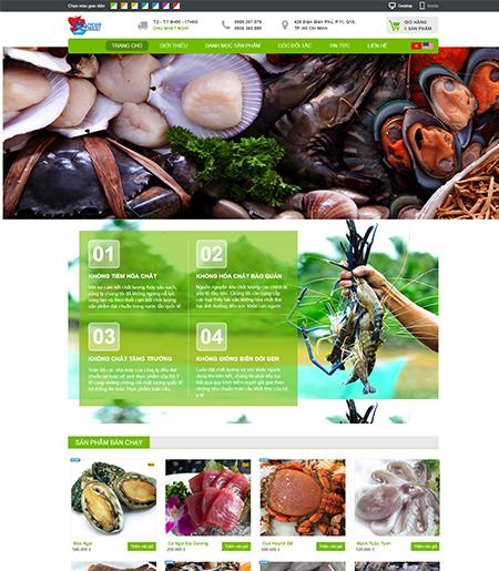 Website - Bán hải sản tươi sống