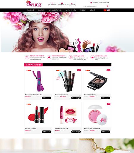 Website - Bán hàng mỹ phẩm