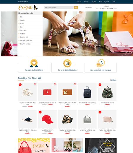 Website - Bán hàng giày dép