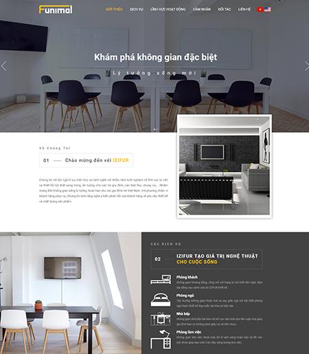 Website/landing page - Lĩnh vực nội thất