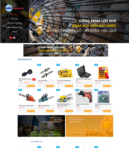 Website - Bán thiết bị, phụ tùng