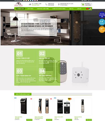 Website - Bán hàng ổ khóa