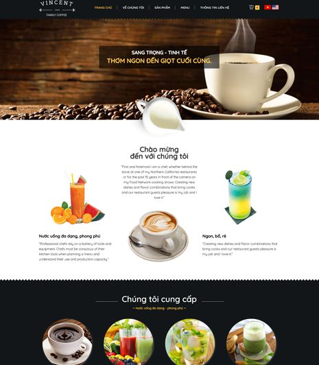 Website - Quán cafe